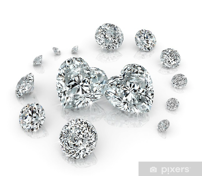 Sticker Pixerstick Groupe de diamants - Fêtes internationales