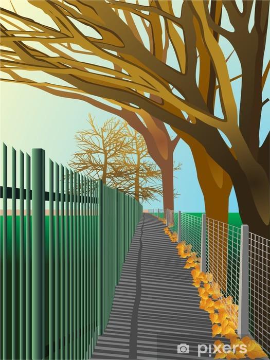 Pixerstick Aufkleber Herbst. Vektor - Jahreszeiten