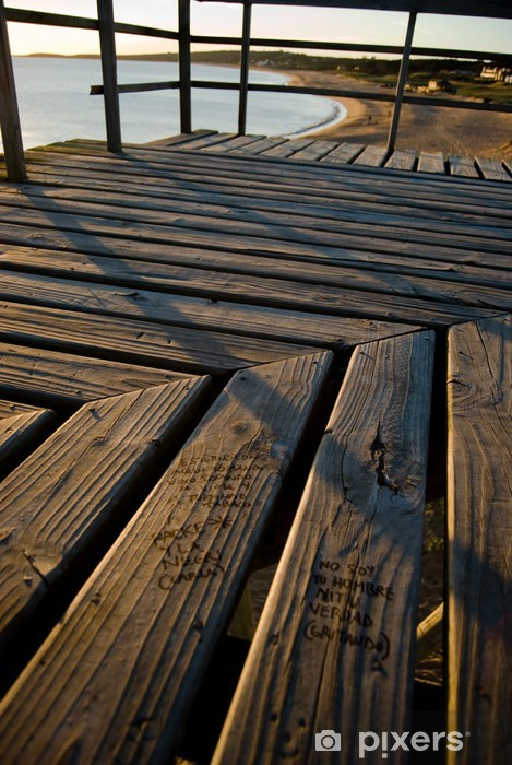 Fototapeta winylowa Plaża konstrukcja drewniana platforma - Infrastruktura