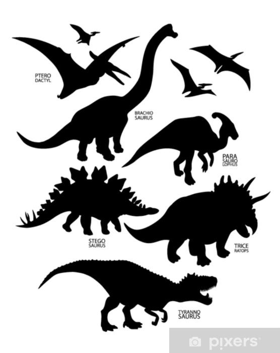 Vinilo Pixerstick Siluetas De Dinosaurio Pixers Vivimos Para Cambiar Entrá y conocé nuestras increíbles ofertas y promociones. vinilo siluetas de dinosaurio
