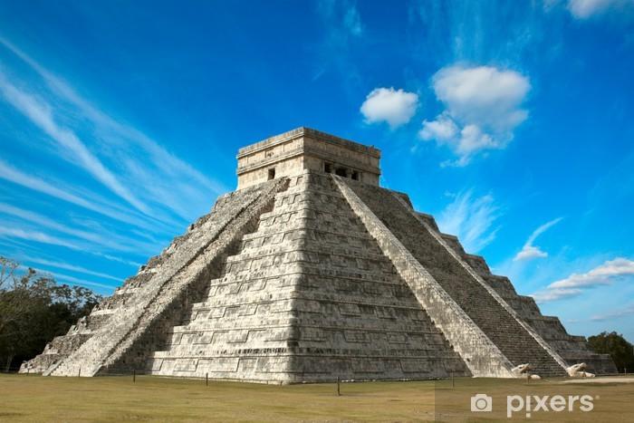 Pixerstick Sticker Maya-piramide in Chichen-Itza, Mexico - Amerika