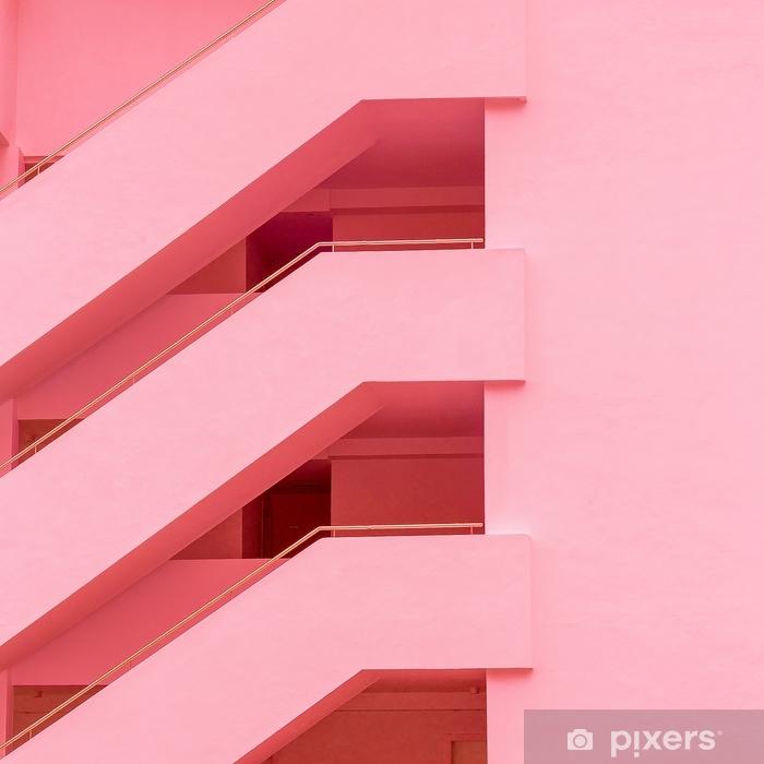Vinyl Fotobehang Balkons. geometrie. mode minimale roze stemming - Bloemen en Planten