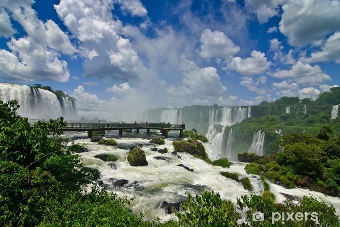 Sticker Pixerstick Wasserfälle Iguazu, près de Foz do Iguaçu, Paraná, Brésil - Thèmes