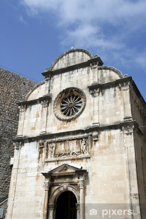 Fotomural Estándar Capilla antigua en el casco antiguo de Dubrovnik, Croacia - Europa