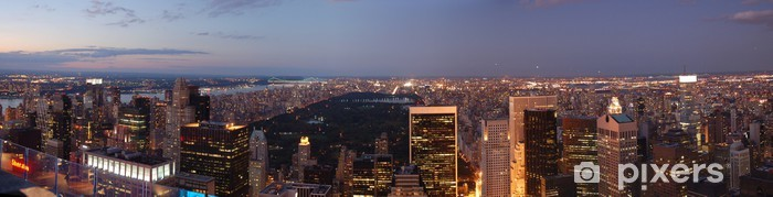 Fotomural Estándar Nueva York - Sunset - Central Park - Panorama - Ciudades norteamericanas
