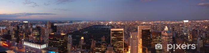 Papier peint vinyle New York - Coucher de soleil - Central Park - Panorama - Villes américaines