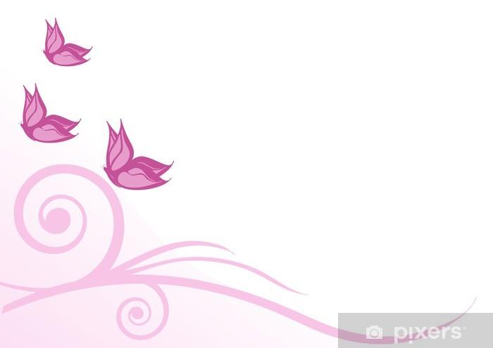 Sfondo Farfalle Rosa Sticker Pixers We Live To Change