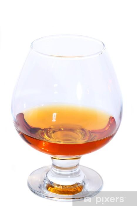 Naklejka Pixerstick Kieliszek koniaku lub brandy na białym - Afryka