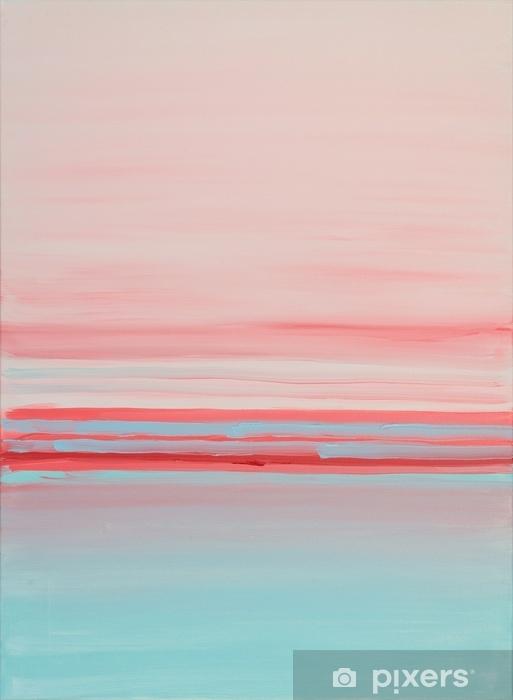 Sininen vaaleanpunainen abstact sisäinen öljymaalaus Pixerstick tarra - Graafiset Resurssit