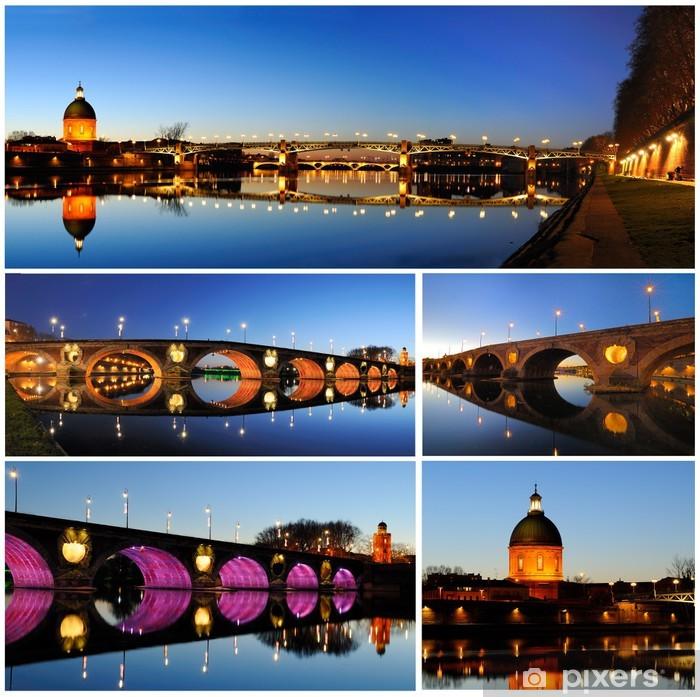 Papier peint vinyle Toulouse de nuit - Vacances