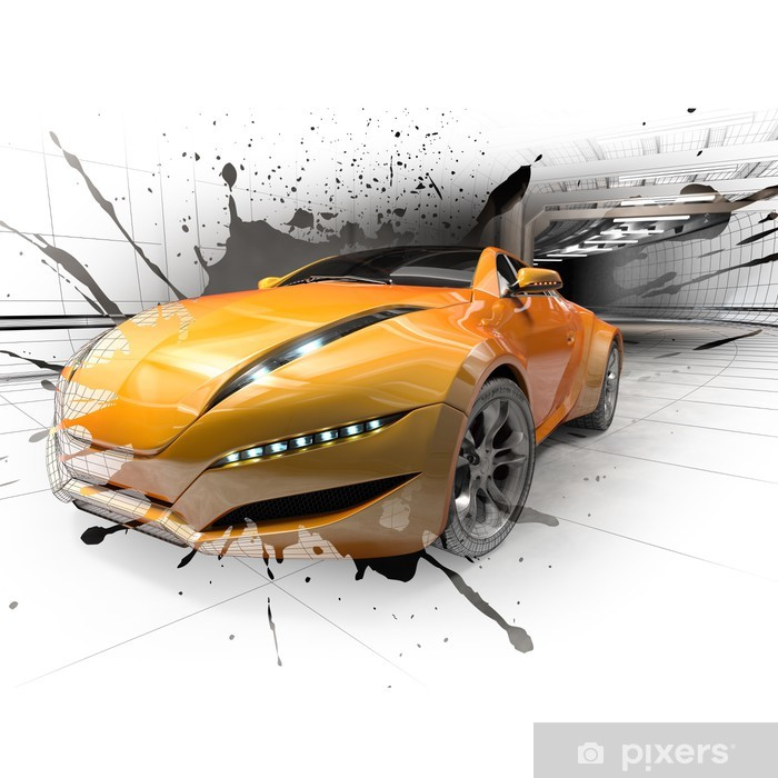 Concept car Poster - On the Road