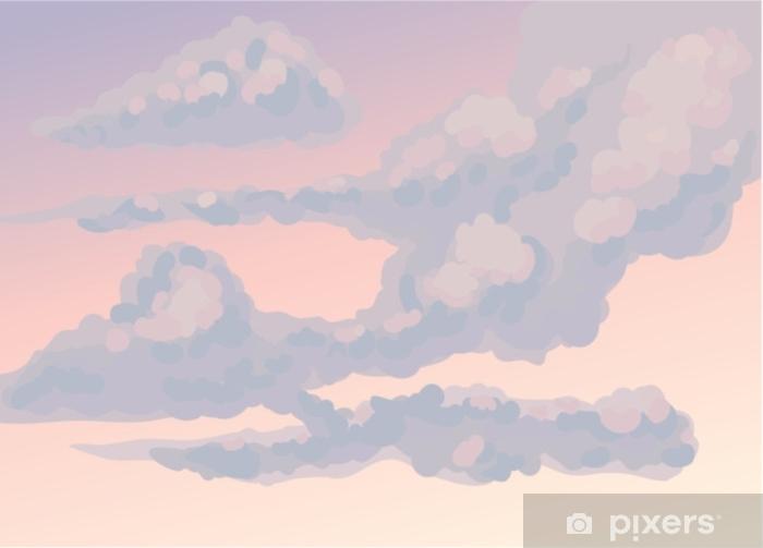Vinyl Fotobehang Wolken. vector tekening - Grafische Bronnen