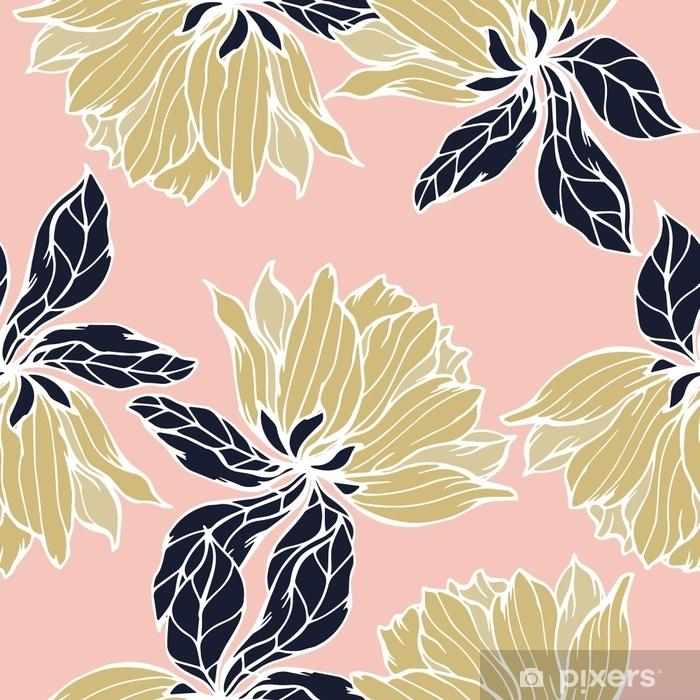 Vinil Duvar Resmi Çiçek arka plan ile soyut elegance desen. - Çiçek ve bitkiler