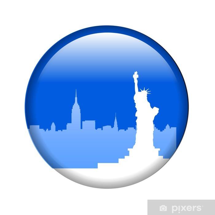Fototapeta winylowa Nowy jork przycisk pin wektor - Naklejki na ścianę