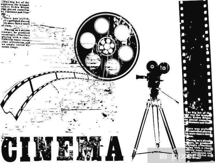 Papier peint vinyle Caméra Vecteur - Les films et séries tv