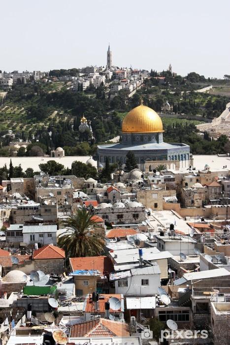 Vinilo Pixerstick Montaje del templo, Jerusalén - Oriente Medio