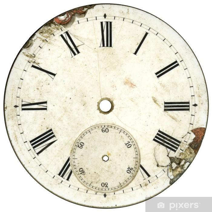 Vintage Watch Dial 4 Vinyl Wall Mural - Clocks