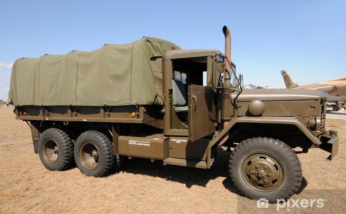Sticker Pixerstick Camion armée - Sur la route