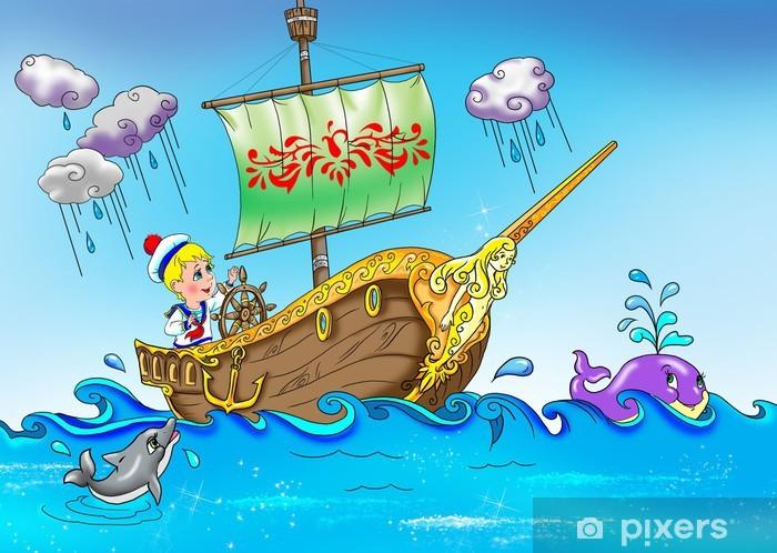 Adesivo Piccolo marinaio sulla nave • Pixers® - Viviamo ...