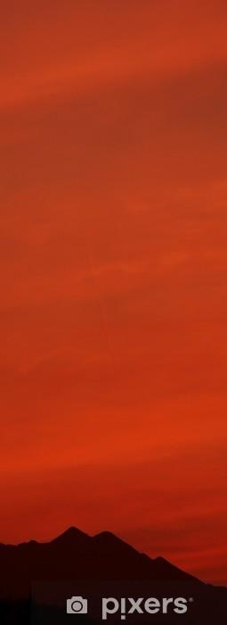 Papier peint vinyle Coucher du soleil rouge - Europe