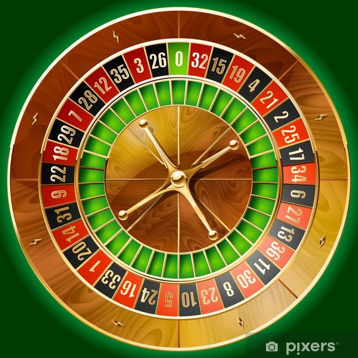 Illustration Of Detailed Casino Roulette Wheel Poster Pixers We Live To Change