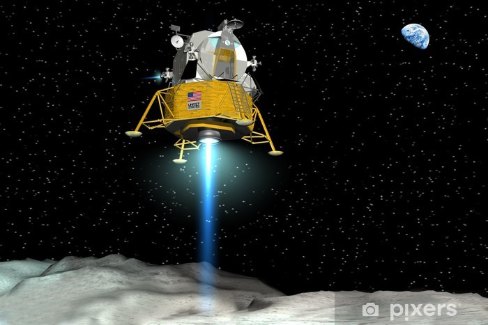 Vinyl-Fototapete Landung der Apollo-Mondfähre - Weltall