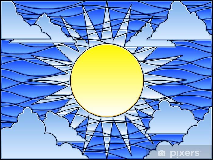 Sticker Pixerstick Jour de vitrail - Ciel