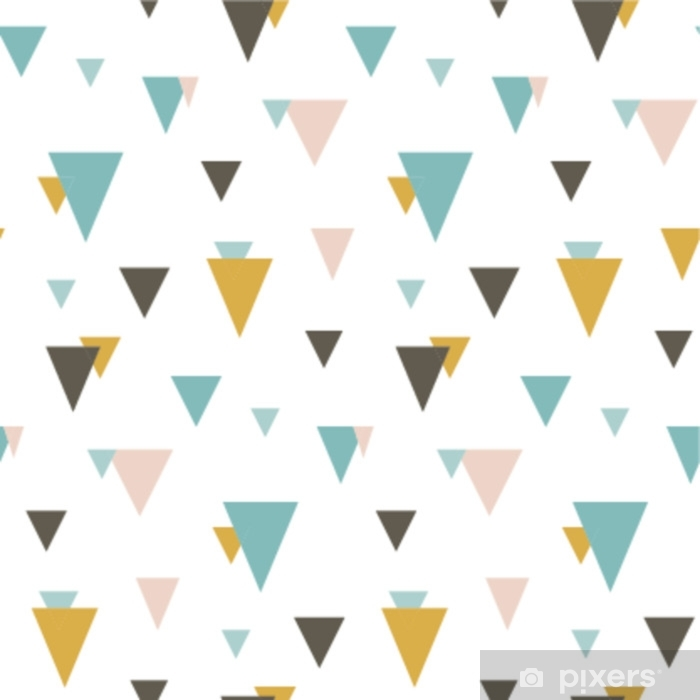 Seamless pattern with random triangles  Scandinavian style  Abstract  geometric vector background for web or printing  Sticker - Pixerstick