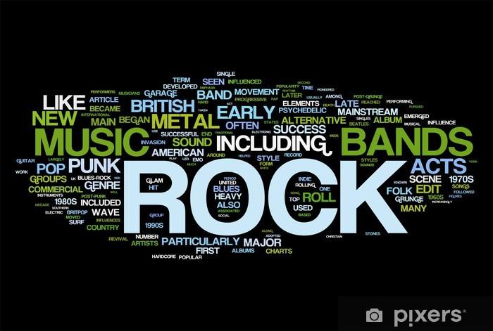Vinyl Fotobehang Rock and roll - Muziek - Rock