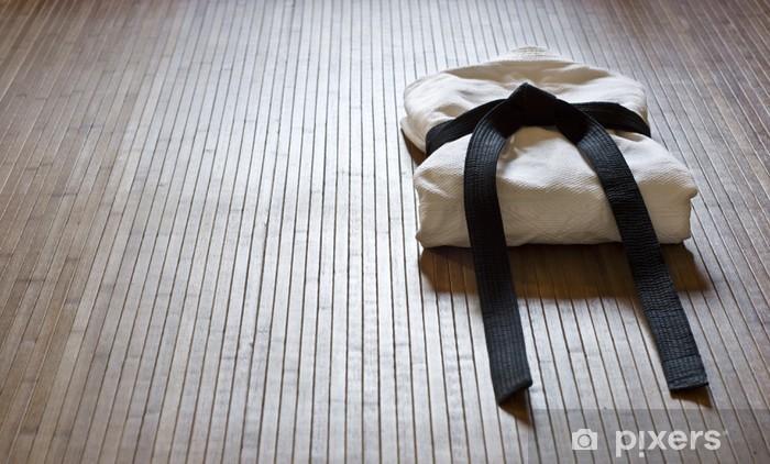 Vinilo Pixerstick Judo gi con copia espacio - Temas