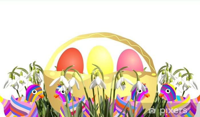 Papier peint vinyle Panier de Pâques - Pâques