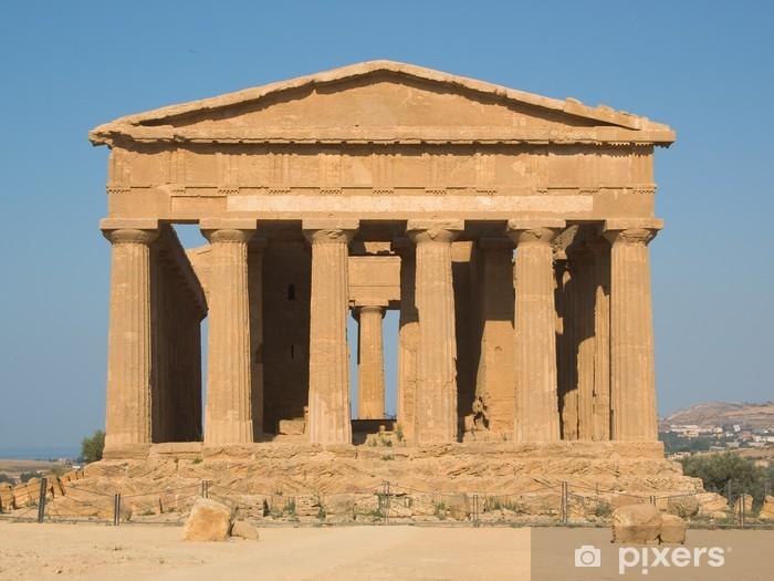 Vinyl-Fototapete Dorischen Tempel in Agrigento - Europäische Städte