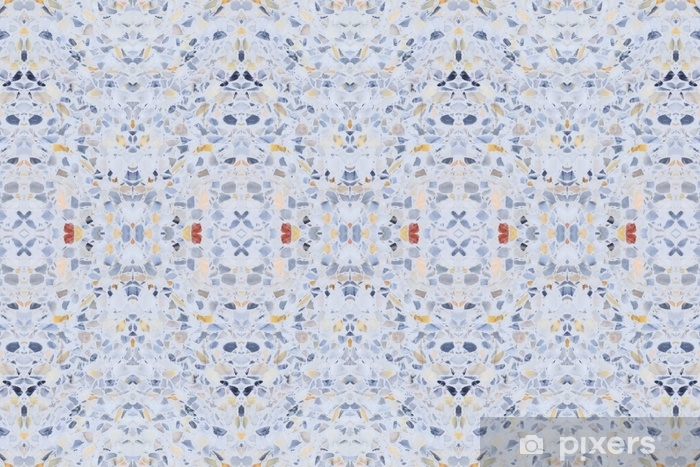 Terrazzo Flooring Old Texture Or Polished Stone Pattern Seamless And Color Wall Surface Marble Design For Background Image Horizontal Wall Mural