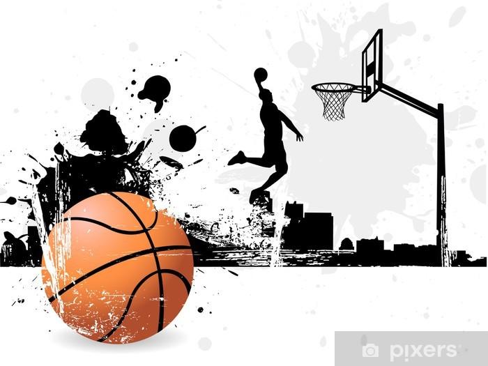 Basketball player Pixerstick Sticker - Basketball