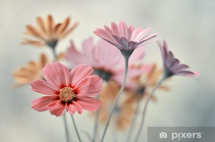 Sticker Pixerstick Buket pastelowych kwiatów - Plantes et fleurs