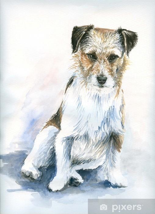 Papier peint vinyle Petite aquarelle de chien peint. - Thèmes