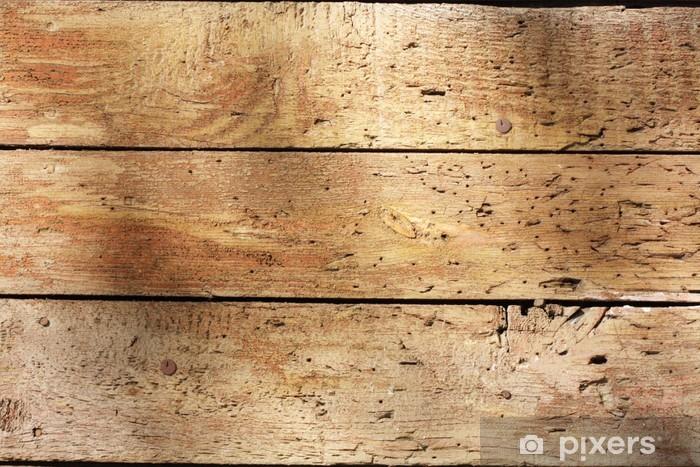 Fototapeta winylowa Stare drewniane deski - iStaging