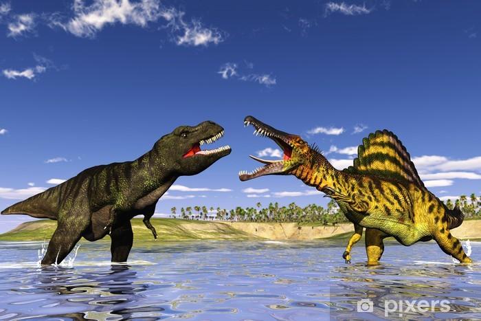 Naklejka Pixerstick Polowanie dinozaurów - Tematy