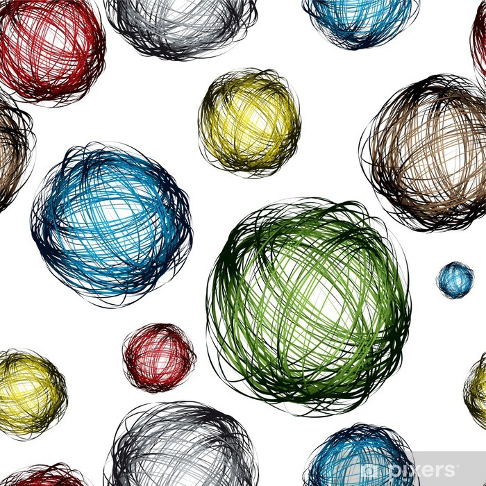 scribble ball color Poster - Business Concepts