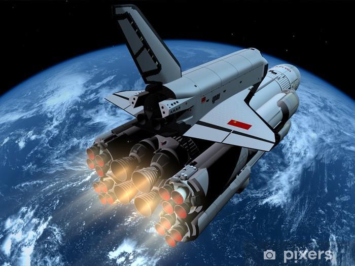 The space ship Pixerstick Sticker - Destinations