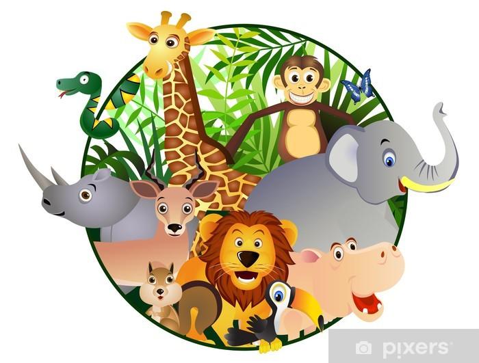Sticker Pixerstick Dessin animé Safari - Sticker mural