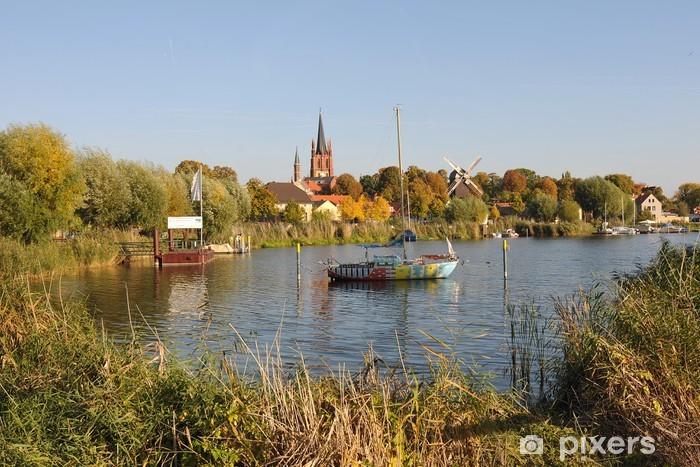 Sticker Pixerstick Resort et l'île de la ville de Werder (Havel) - Paysages urbains