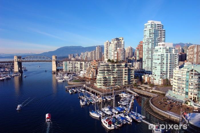 Carta da Parati in Vinile Vancouver porto - America
