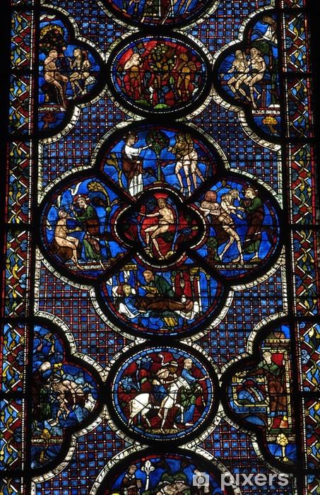 Fototapeta winylowa Francja, witraże z katedry w Chartres - Dom i ogród