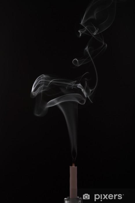 Nálepka Pixerstick Pramínek kouře z umírajícího svíčky - Témata