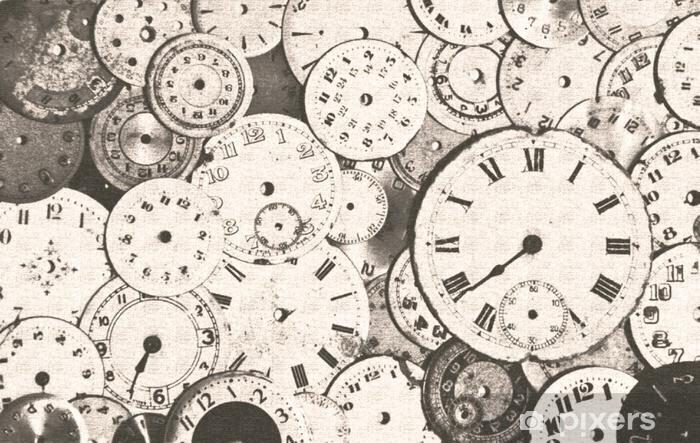 Fototapeta winylowa Grungy sepia antyczne tarcze zegarka - Zasoby graficzne