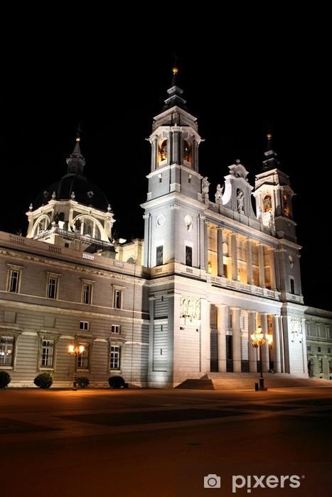 Vinylová fototapeta Madrid katedrála v noci - Vinylová fototapeta