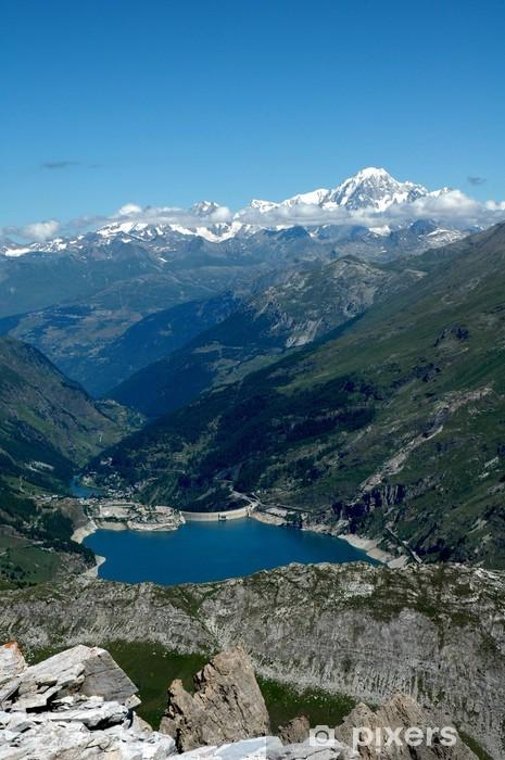 Vinylová fototapeta Chevril Lake Dam do Tignes - Vinylová fototapeta