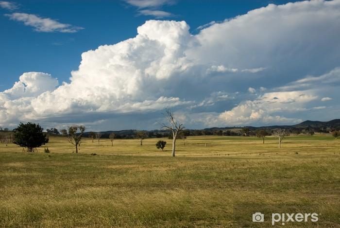 Fototapeta winylowa Nadchodząca burza - Krajobraz wiejski