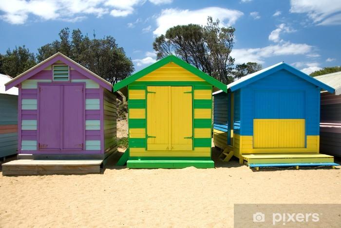 Carta da Parati in Vinile Capanne di spiaggia - Edifici privati